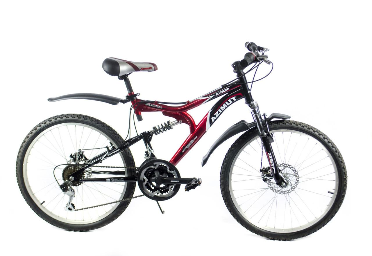 """Подростковый велосипед AZIMUT BLASTER 24"""" 15""""  Красный"""