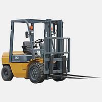 Вилочный автопогрузчик погрузчик дизельный складской кара кар электрокара электрокар на склад АВД30Т-3Н ДТЗ 3