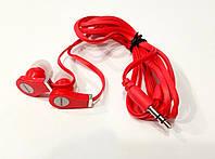 Наушники вакуумные Lenovo hi-fi stereo красные