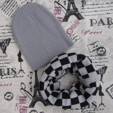 Демисезонный вязанный набор  шапка и хомут  продажа 03d211e0bfab7