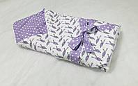 Плед-конверт с плюшем дизайнерский на хлопкопоне, цвет под заказ