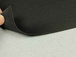 Биэластик, кожзам тягучий черный, для перетяжки салона авто