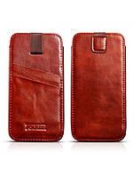 Чехол Icarer Vintage Straight leather case для iPhone 6/6S коричневый