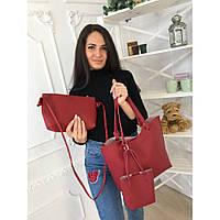 Сумка женская стильная с клатчем и мини сумкой 9016