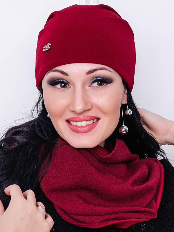 Трикотажная шапка - ЛЮСИ - бордовый