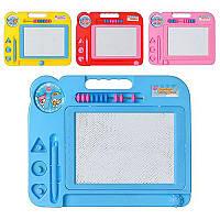 Досточка для рисования 3058/27020 размер 27-21,5-1,9см, детская досточка. планшет для рисования, магнитная