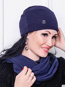 Женская шапка - ЛЮСИ - синий