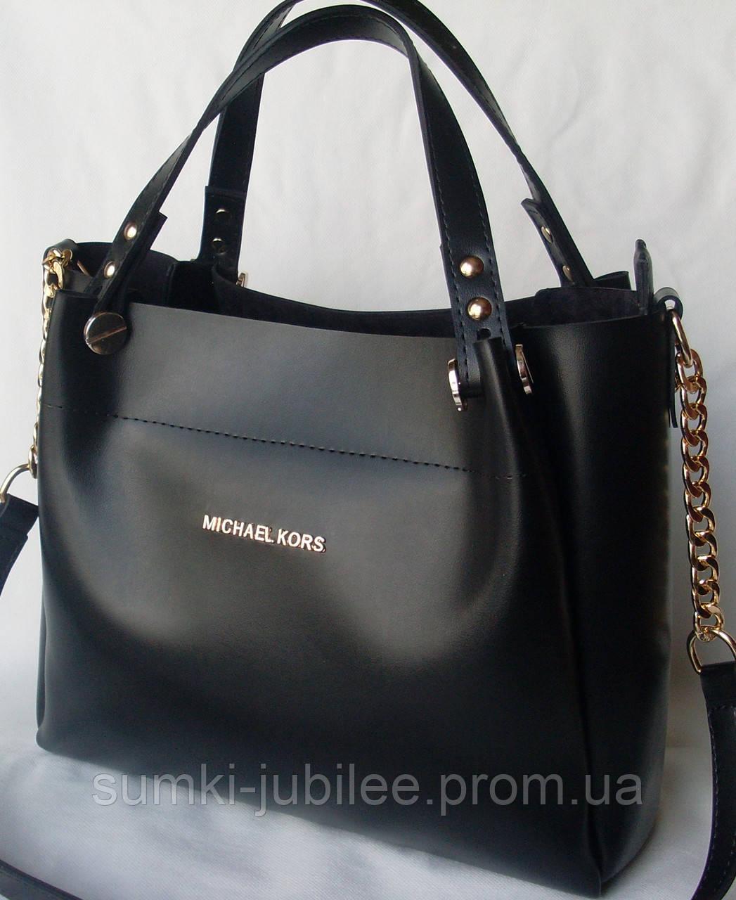 21c658a2317d Женская сумка Michael Kors черного цвета