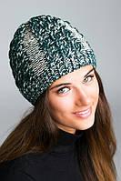 Зимняя шапка из меланжевой пряжи