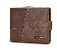 Кошелек портмоне мужской кожаный GZCZ горизонтальный (коричневый), фото 1