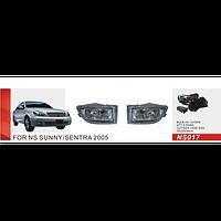 Противотуманные фары Vitol NS-017W Nissan Sunny 2005
