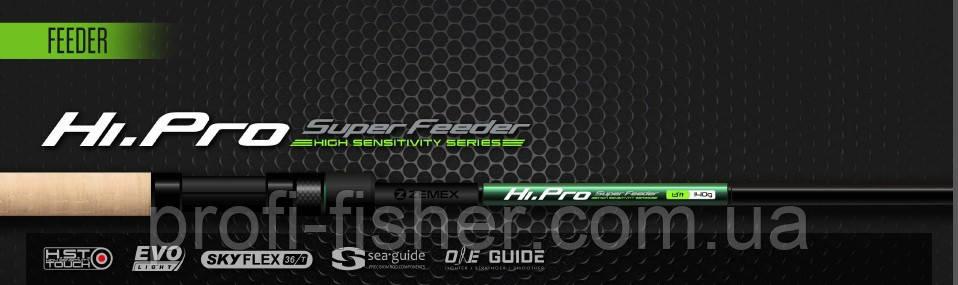 Фидерное удилище ZEMEX Hi Pro Super Feeder 13ft до 90 гр - 2018