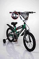 """Велосипед """"NEXX BOY-16"""" Зеленый-Сплэш(двухколесный)"""