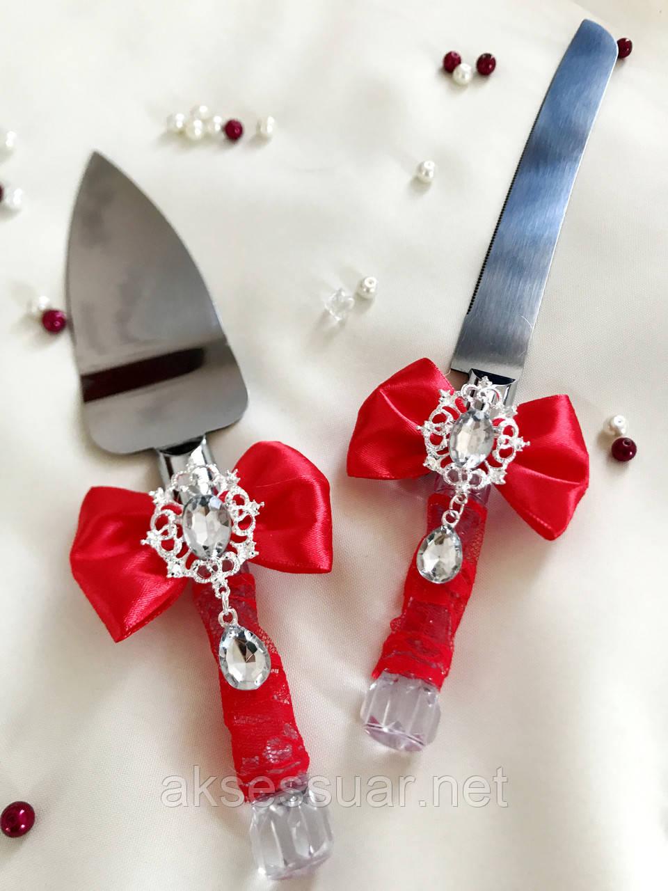 Нож и лопатка для свадебного торта