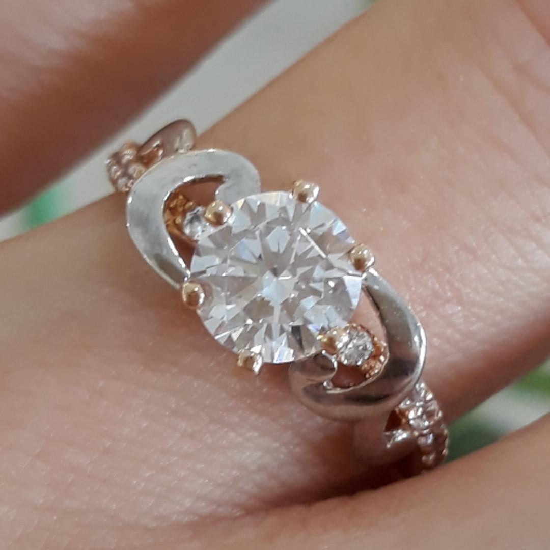 Красивое золотое кольцо на предложение - Кольцо для помолвки золото - Кольцо для предложения золото