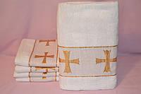 Полотенце для крещения белая Крыжма 70х140 Велюр, махра