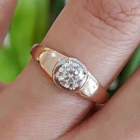 Золотое кольцо с 1 камнем - Кольцо для помолвки золото - Кольцо для предложения  золото bd07941efc612