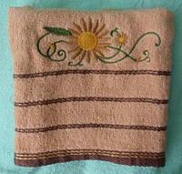Банные полотенцаПодсолнух 6шт в уп 1.4х70  100% хлопок полотенце оптом большой опт самая дешевая цена 7км Одес