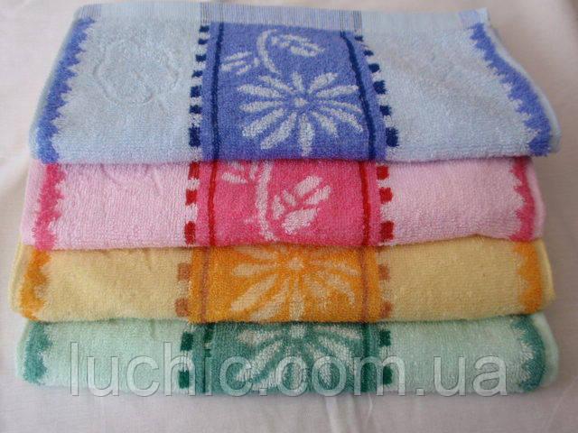Кухонные полотенца  цветок на ношке 10шт.   в уп. Размер 35х70 100% хлопок .