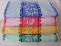 Кухонные полотенца Цветок на ножке и Другие. Яркая кухня плотная 12 шт в уп. Размер 35х70 100% хлопок оптом
