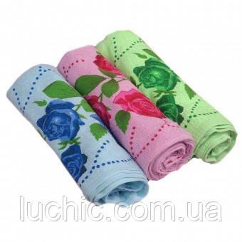 Кухонные полотенца ассорти (роза, лилия или др.) 20 шт в уп. Размер 25х40 100% хлопок кухонное полотенце