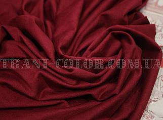 Ткань замша стрейч бордовая