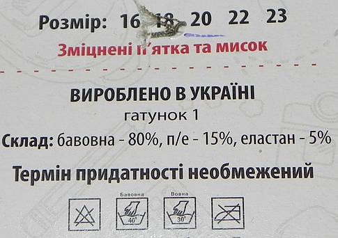 Носки детские деми ТМ Прилуки р. 20 мальчик, фото 2