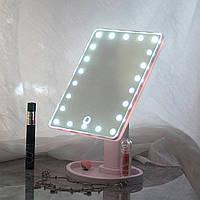 Оригинал! Зеркало для макияжа MAGIC MAKEUP MIRROR Розовое