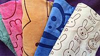 Зайчики и другие узоры 6 шт в уп. Размер 0,5х0,9 Лицевое 100% хлопок полотенце оптом большой опт
