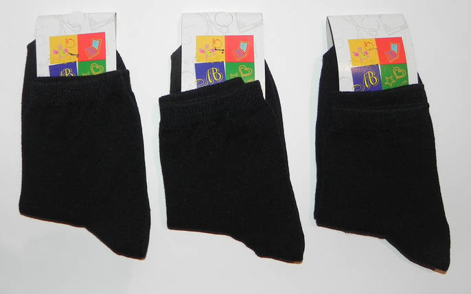 Носки подростковые деми ТМ Прилуки р. 23 черные, фото 2