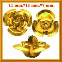 Новое Поступление: Розы 3D Средние Алюминиевые для Бижутерии 7 цветов. Коды 6225