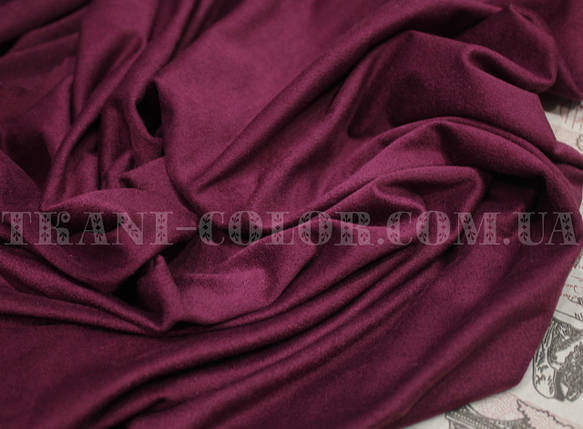 Ткань замша стрейч фиолетовая, фото 2