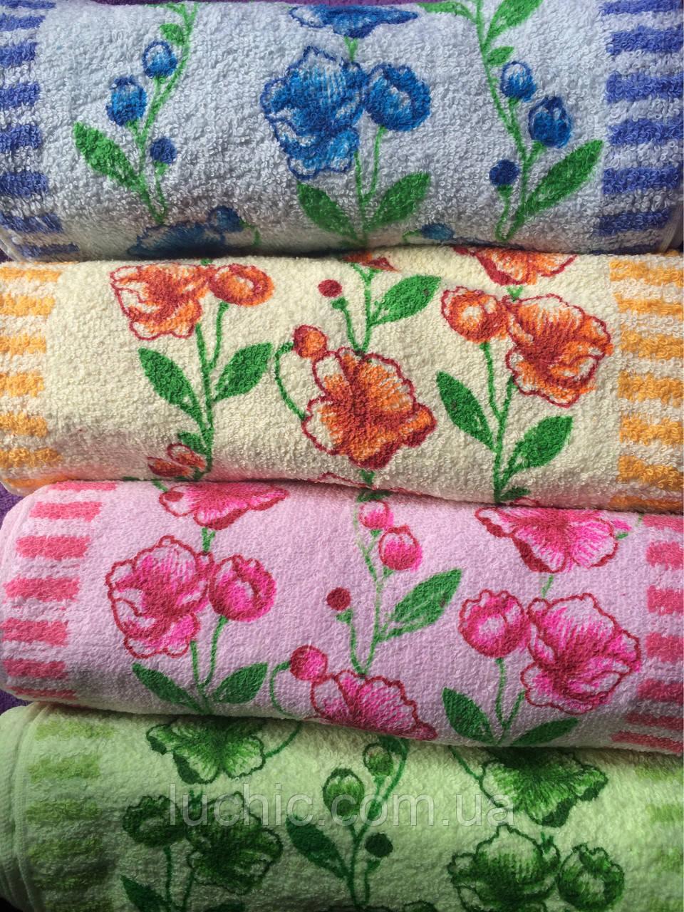 Кухонные полотенце Незабудки ассорти  25х50 20 шт в упаковке