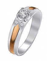 Серебряное кольцо с цирконием, фото 1