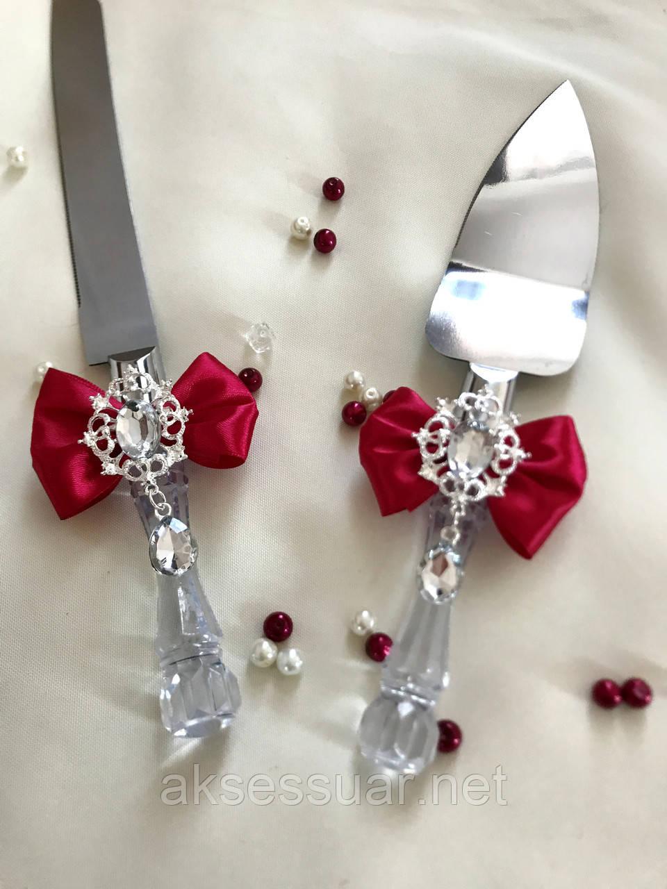 Лопатка и нож для свадебного торта