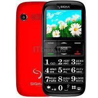 Мобільний телефон Sigma Comfort 50 Slim Black/Red (4304210212175)