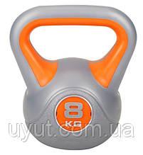 Гиря виниловая Hop-Sport 8 кг