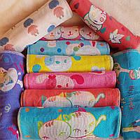 Полотенце детское лен двустороннее 10 расцветок 20 шт в упаковке. 25х50