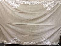 Простынь  махровая  (хлопок\лен)  208*150  fashion