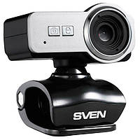 Веб-камера 0.3 Мп з мікрофоном Sven IC-650 Black Silver (IC-650)