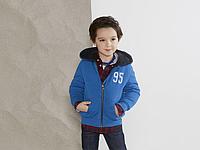 Детская толстовка-меховушка для мальчика с капюшоном цвет синий Германия Lupilu