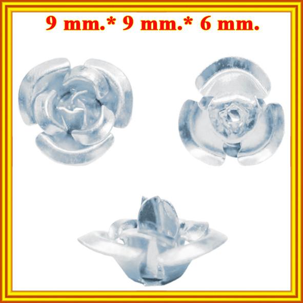 Новое Поступление: Розы 3D Мини Алюминиевые для Бижутерии 7 цветов. Коды 6224