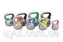 Набор виниловых гирь Hop-Sport 8 шт (общий вес 78 кг)
