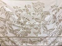 Простынь  махровая  (хлопок\лен)  208*150 Бабочки