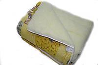 Одеяло 150х220 из овечьей шерсти открытый мех в ассортименте