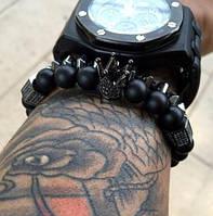 Мужской каменный браслет mod.Crown, фото 1