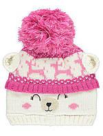 Теплая красивая шапка для девочки George, 4-8 лет! Утеплена флисом.