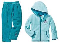 Детский флисовый костюм для девочки цвет бирюзовый Германия Lupilu