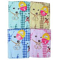 Банное полотенце Милые собачки 6 шт в уп. Размер 1,4х0,7 100% хлопок полотенце оптом большой опт