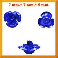 Новое Поступление: Розы 3D Микро Алюминиевые для Бижутерии, 7 цветов. Коды 6223